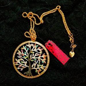 Betsey Johnson Tree Of Life Necklace